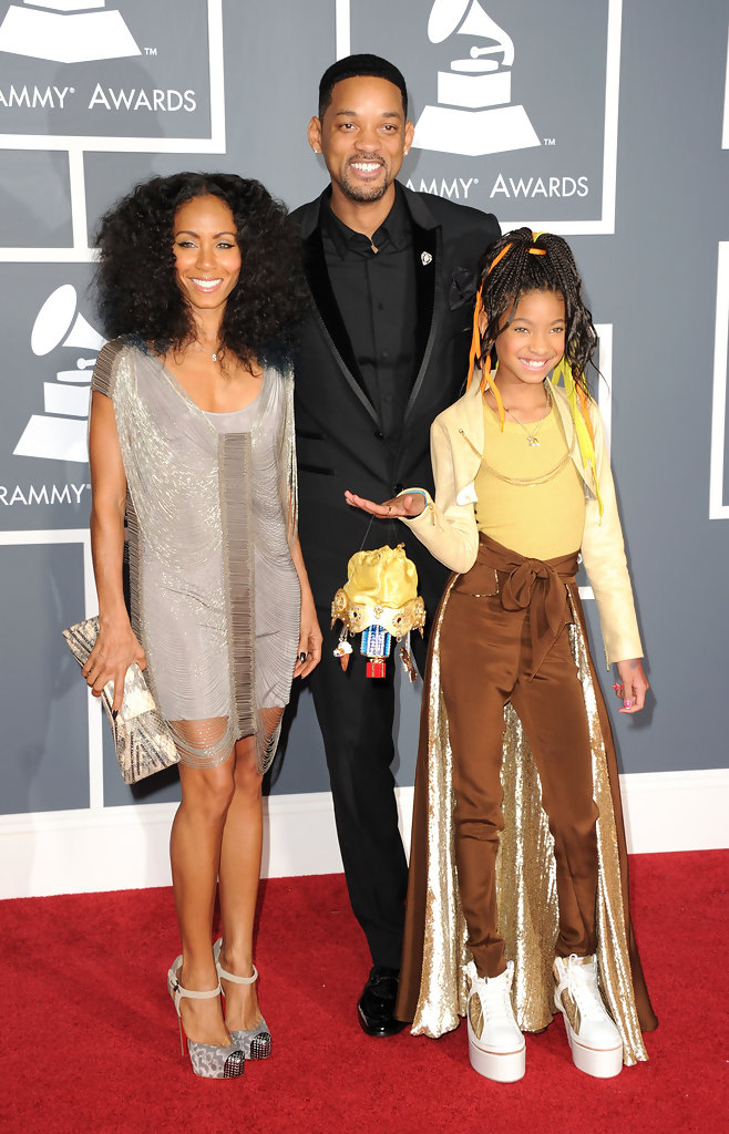 Willow Smith with her father and mother